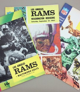 Los Angeles Rams 1963 Game Program 3-Pack