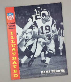 Los Angeles Rams Cleveland Browns1965 Game Program
