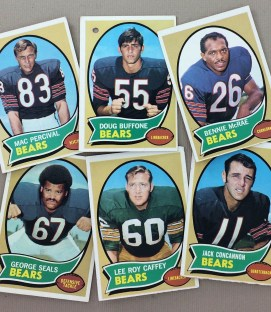 Chicago Bears 1970 cards
