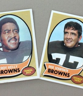 Cleveland Browns 1970 cards