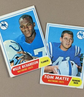 1968 Baltimore Colts Collectors Card Set