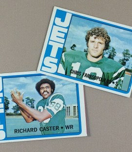 1972 New York Jets Collectors Card set