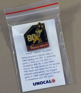 Los Angeles Rams Henry Ellard Commemorative Pin