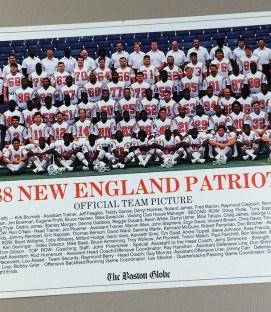 New England Patriots 1988 Team Photo