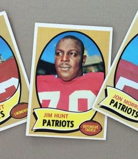 New England Patriots 1970 cards