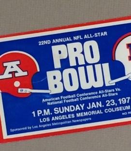 Pro Bowl 1972 Ticket