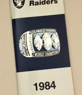 Los Angeles Raiders 1984 Media Guide