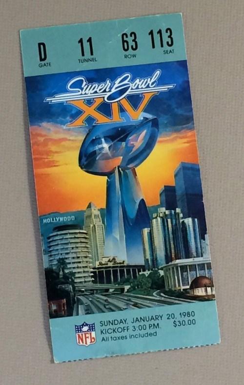 Super Bowl XIV Ticket