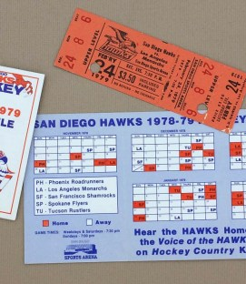 San Diego Hawks 1978-79 Schedule and Ticket