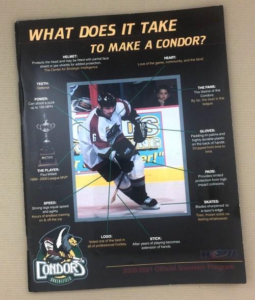 Bakersfield Condors 2001 WCHL Program