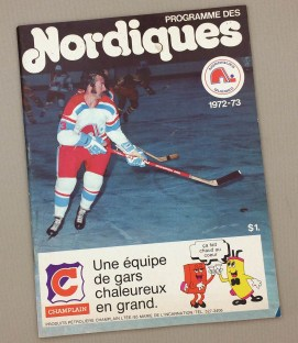 Quebec Nordiques Inaugural 1972 WHA Season Program
