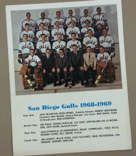 San Diego Gulls 1968-69 Team Photo
