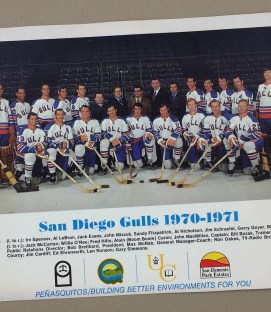 San Diego Gulls 1970-71 Team Photo