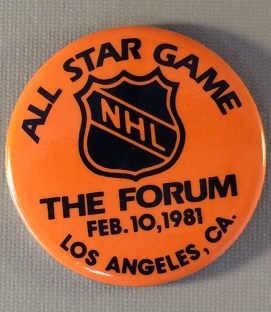 NHL All Star Game 1991 Button