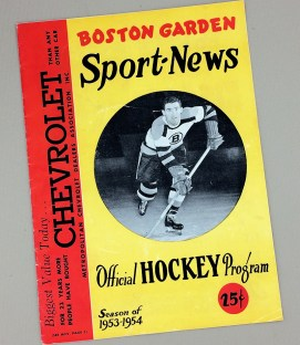 Boston Bruins 1953-1954 Hockey Program