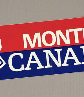1970's Montreal Canadiens Bumper Sticker