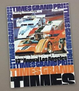 1970 Times Grand Prix program Riverside