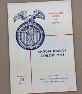 Boston Garden Track 1953 Program