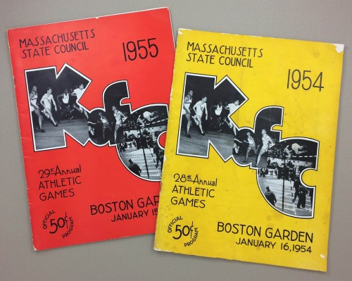 Massachusetts State Council 29th Annual Athletic Games 1954 & 55 Programs