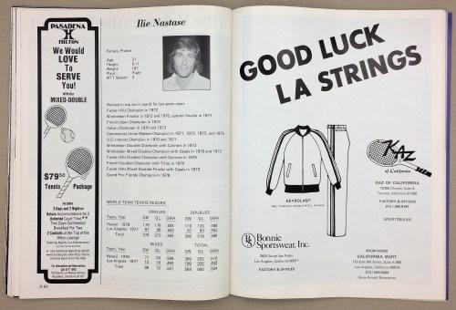 Ilie Nastase Los Angeles Strings