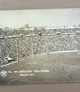 Vintage Estadio Azul Postcard