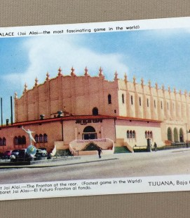 Fronton Palace Tijuana Vintage Postcard