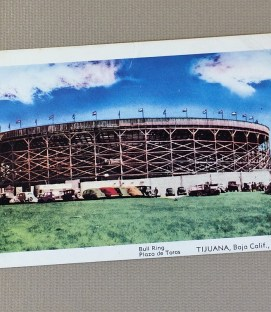 Litho Postcard of the Bull Ring in Tijuana, MX