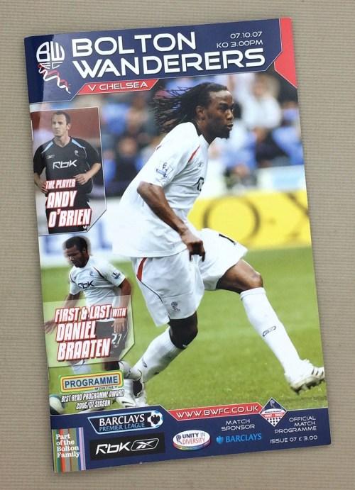 Bolton Chelsea 2007 Program