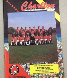 Charlton Liverpool Match Program