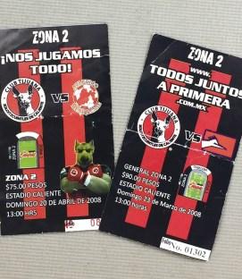 Tijuana Xolos 2008 Tickets