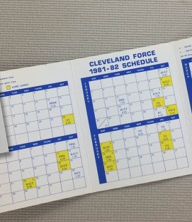Cleveland Force 1981-82 Schedule