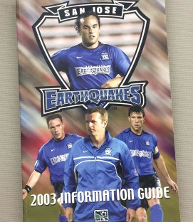 San Jose Earthquakes 2003 Media Guide