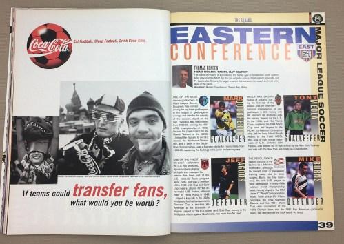 MLS All-Star Mark Dougherty, Jeff Agoos, Tony Meola, Mike Burns