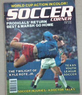 Soccer Corner Magazine March 1977