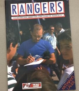 Rangers Celtic 1988 Derby Program
