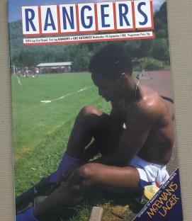 Rangers Katowice 1988 UEFA Program