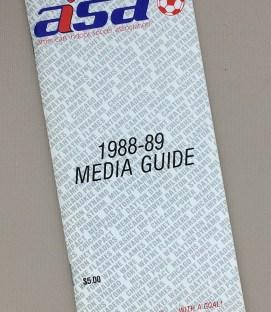 American Indoor Soccer Association 1988-89 Media Guide
