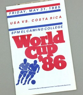 USA vs Costa Rica WC '86 Qualifier Program