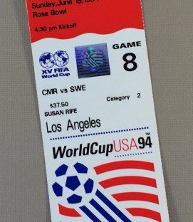 World Cup '94 Cameroon vs Sweden Ticket Stub