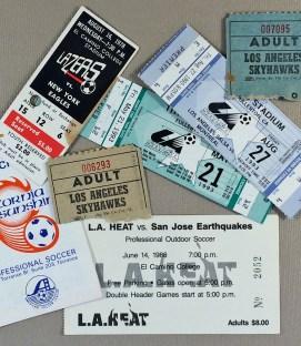 Los Angeles area defunct Soccer Teams Items