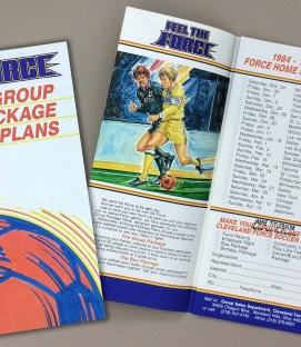 Cleveland Force 1984-85 Brochure