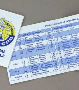 San Diego Sockers 1979 Schedule