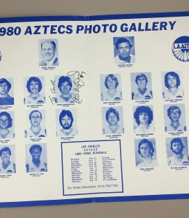 Los Angeles Aztecs 1980 Team Photo
