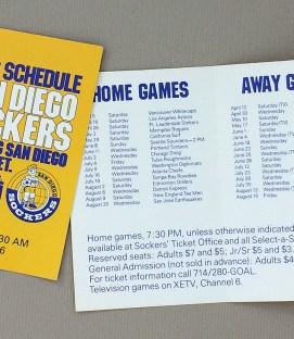 San Diego Sockers 1980 Schedule