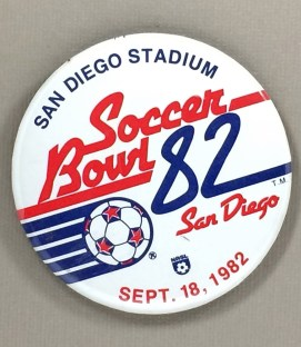 Soccer Bowl 1982 Button