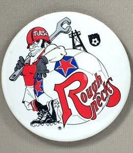 Tulsa Roughnecks Team Button