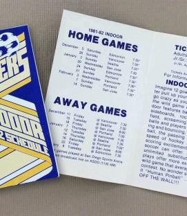 San Diego Sockers 1981-82 NASL Indoor Schedule