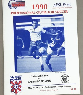 San Diego Nomads vs Timbers 1990 Program