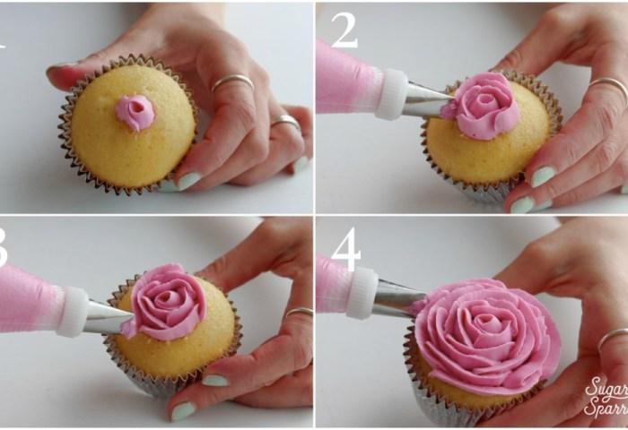 5 Easy Designs For Buttercream Flower Cupcakes Sugar Sparrow