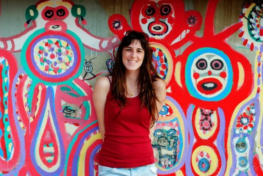 French girl visits Rainbow Village